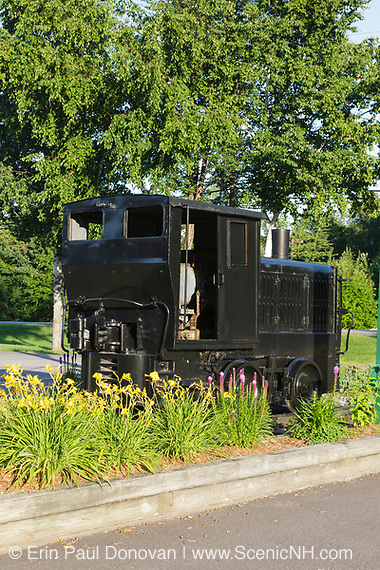 Plymouth Diesel locomotive in Lincoln, New Hampshire. This locomotive was used at the Beebe River Railroad's Draper Mill Plant.