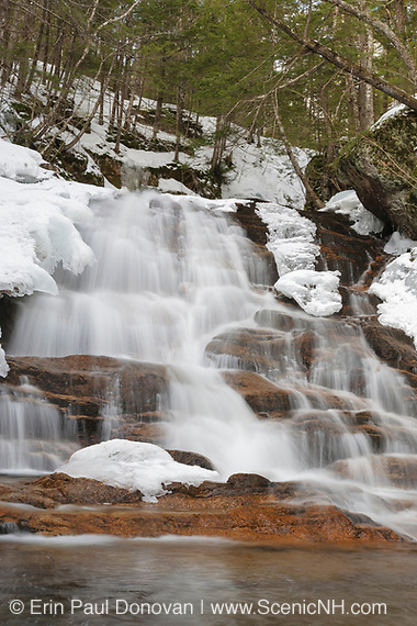 Ellen's Falls are located on Hobbs Brook in the White Mountains of New Hampshire.