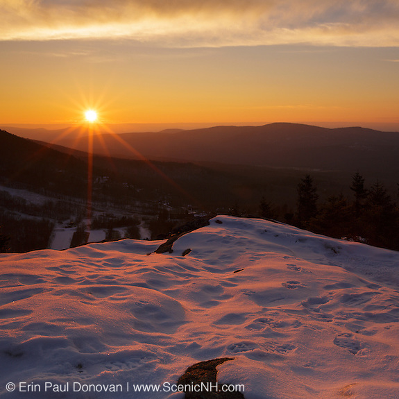 This is the image for November in the 2016 White Mountains New Hampshire calendar. Sunset from Bald Mountain in Franconia Notch State Park, New Hampshire.