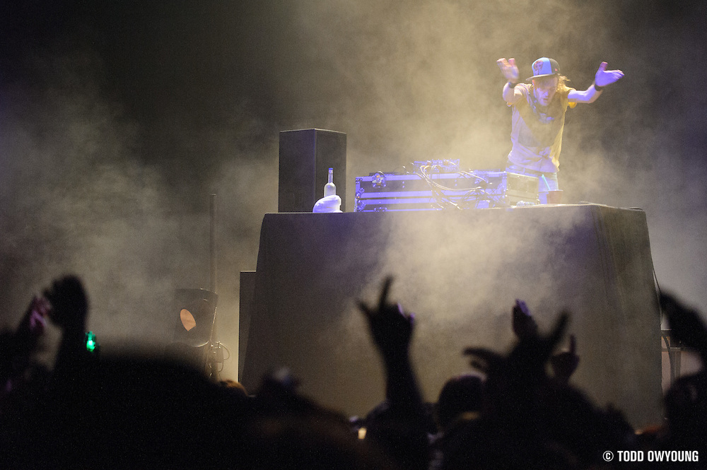 Rusko performing at the Pageant in St. Louis, Missouri on February 27, 2012. (Todd Owyoung)