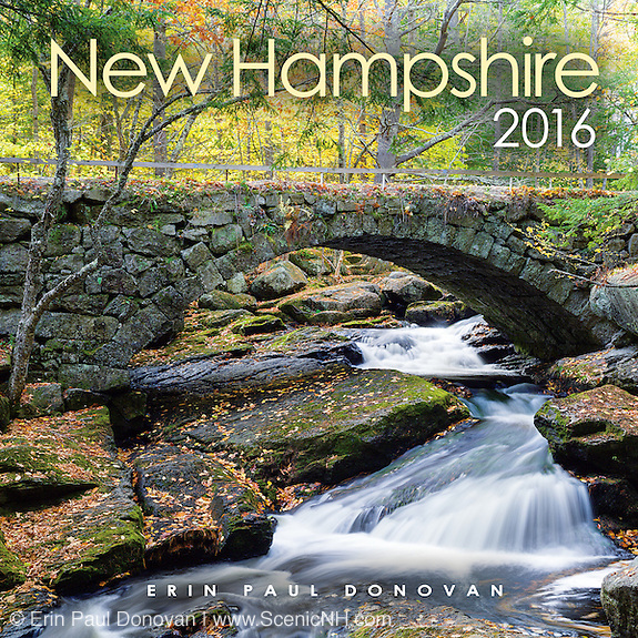Front cover of the 2016 New Hampshire wall calendar by ScenicNH Photography LLC | Erin Paul Donovan.