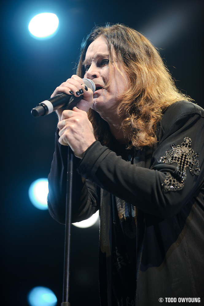 Heavy metal pioneer Ozzy Osbourne Performing at Scottrade Center in St. Louis, Missouri, on January 14, 2011. (© Todd Owyoung)