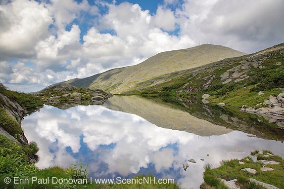 Reflection of Mount Washington in Lakes of the Clouds along the Appalachian Trail in the White Mountains, New Hampshire.