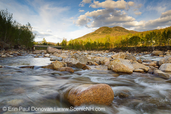 May history, East Branch of the Pemigewasset River in Lincoln, New Hampshire USA during the spring months.