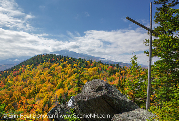 Scenic view from Chapel Rock on Pine Mountain in Gorham, Hampshire USA during the autumn months.