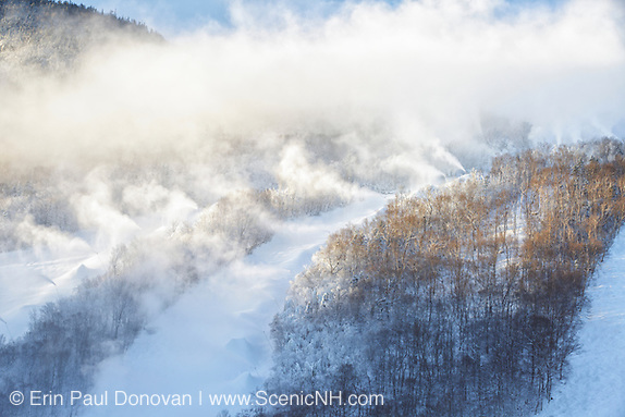 Snow making at Cannon Mountain in Franconia Notch State Park, New Hampshire.