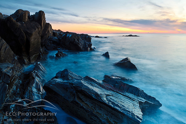 Favorite Photos of 2012. #1: Dawn, rocks, and surf. Wallis Sands State Park, Rye, New Hampshire. (Jerry Monkman)