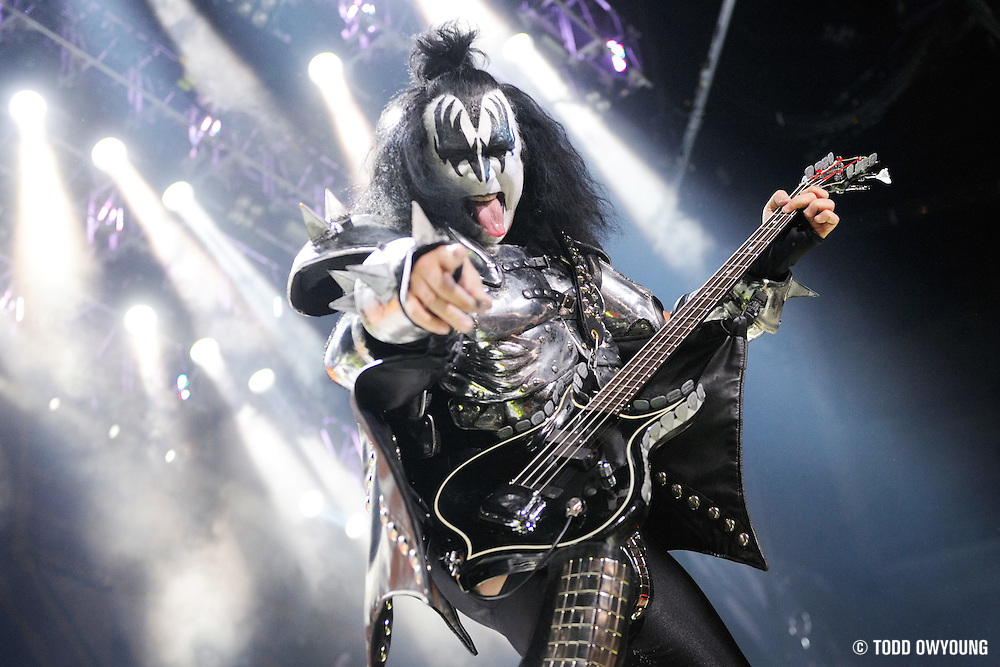 KISS performs on the Alive/35 World Tour 2009. (TODD OWYOUNG)