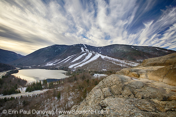 Franconia Notch State Park - Cannon Mountain during the late autumn months in the White Mountains, New Hampshire.