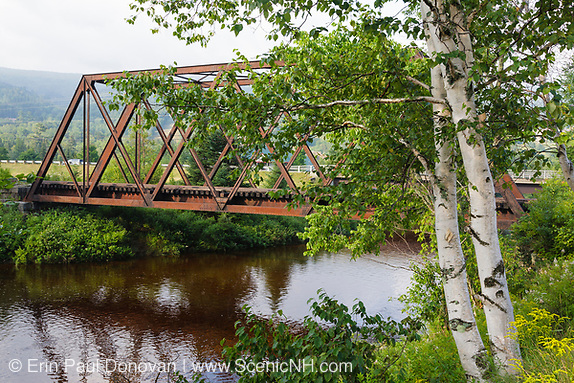 Railroad trestle along the old Boston and Maine Railroad near Fabyans in Carroll, New Hampshire.