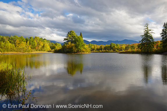 Coffin Pond in Sugar Hill, New Hampshire USA during the late summer months.
