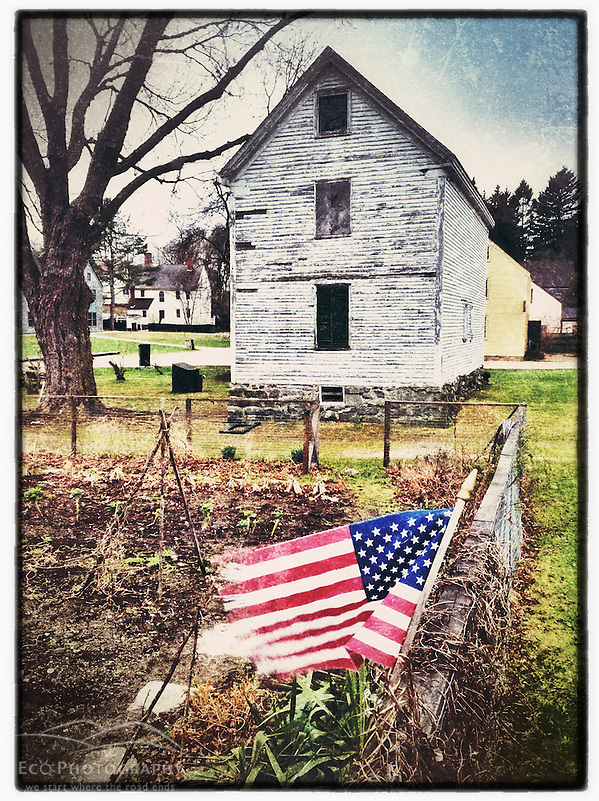 "An American flag at the Victory Garden at Strawbery Banke Museum in Portsmouth, New Hampshire. iPhone photo - suitable for print reproduction up to 8"" x 12"". (Jerry Monkman)"
