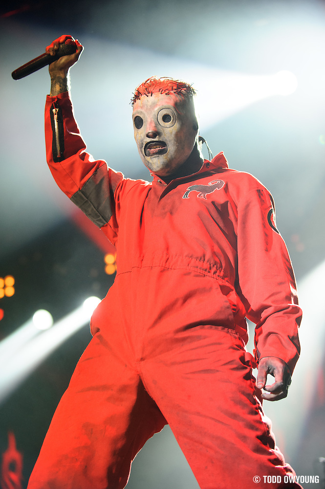 Slipknot performing at Mayhem Fest 2012 at Verizon Wireless Amphitheater in St. Louis, Missouri on July 20, 2012. (Todd Owyoung)