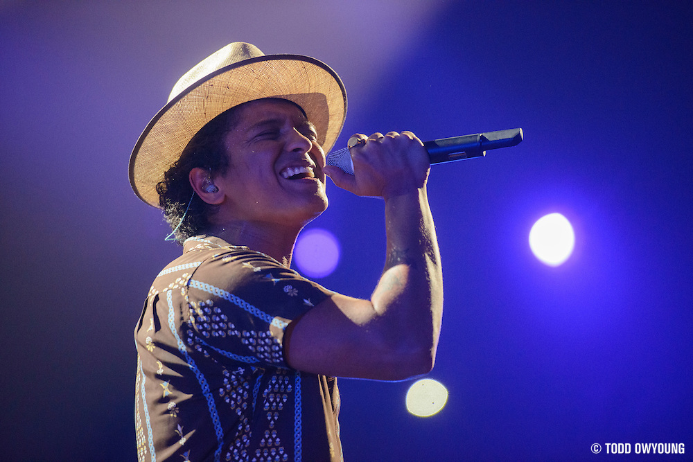 Bruno Mars performing at the iHeartRadio Music Festival at the MGM Grand Arena on Saturday, September 21, 2013. (Todd Owyoung)