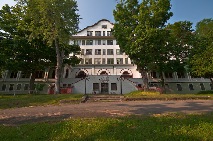 The Abandoned Hotel Adler in Sharon Springs NY New York. (Walter Arnold Walter Arnold)