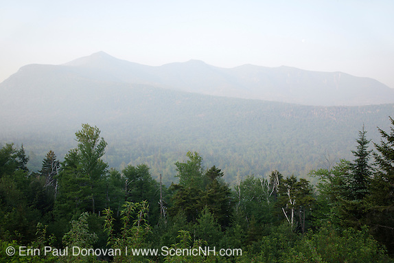 A smokey haze from Quebec, Canada wildfires in 2010 can be seen along the Kancamagus Highway (route 112), which is one of New England's scenic byways in the White Mountains, New Hampshire USA (Erin Paul Donovan)
