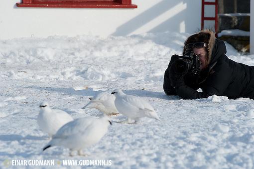 Us in photographic action in Iceland. (EINAR GUDMANN)