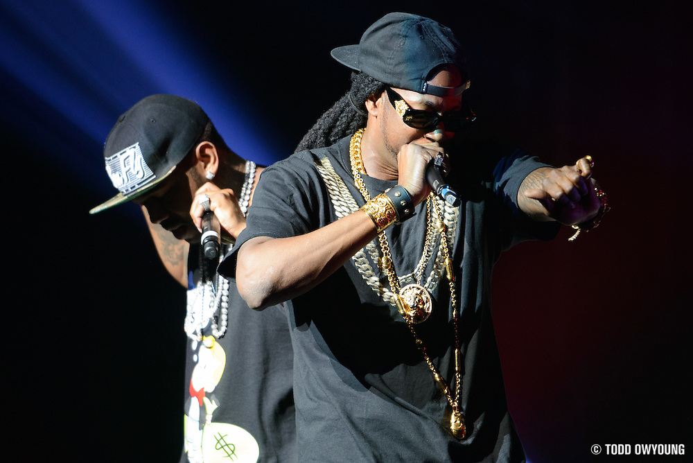 Rapper 2 Chainz performing in support of Nicki Minaj on the Pink Friday Tour 2012 at the Peabody Opera House in St. Louis on July 31, 2012. (Todd Owyoung)