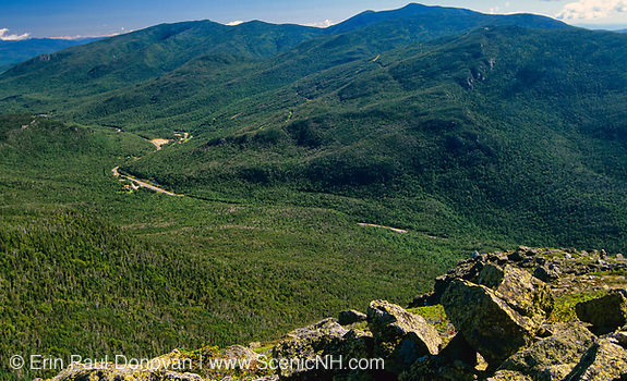 Pinkham Notch from Glen Boulder Trail in the White Mountains, New Hampshire