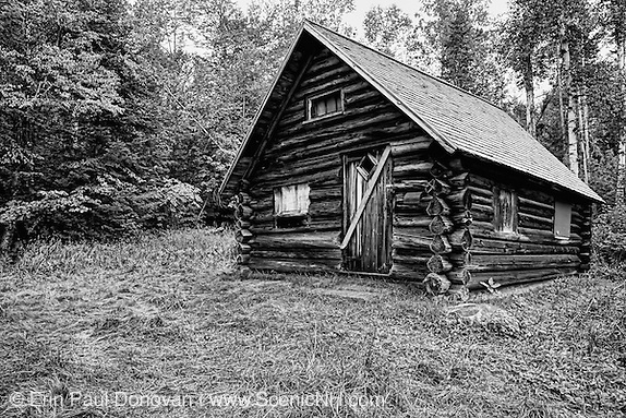 The Fabyan Guard Station - Built in 1923 by Clifford Graham along the old Jefferson Turnpike (now Old Cherry Mountain Road) in the White Mountains, New Hampshire. It's the last remaining guard station in the White Mountain National Forest. The cabin was built using spruce logs from the surrounding area (Erin Paul Donovan | ScenicNH.com Photography)