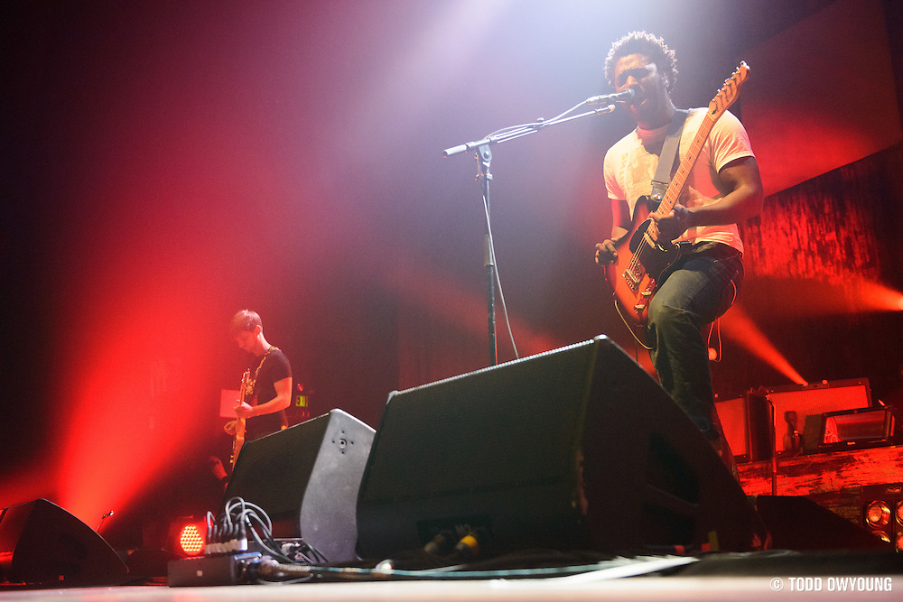 British indie rock band Bloc Party performing at the Pageant in St. Louis on January 19, 2013. (Todd Owyoung)