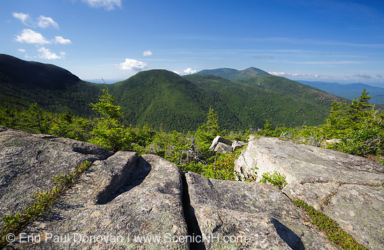 Franconia Notch - Scenic view from the Mittersill - Cannon Trail on Mittersill Mountain in the White Mountains, New Hampshire USA during the summer months.