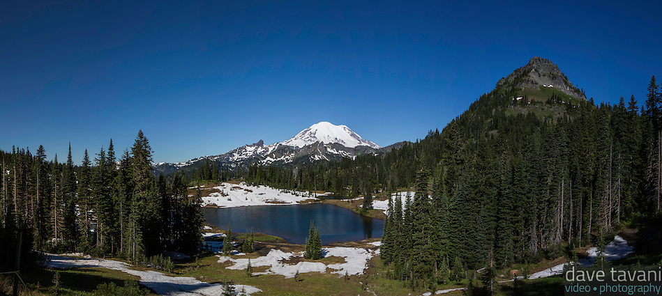 Tipsoo Lake sits along the Naches Peak Loop Trail and offers a nice view of Mt. Rainier. (Dave Tavani)