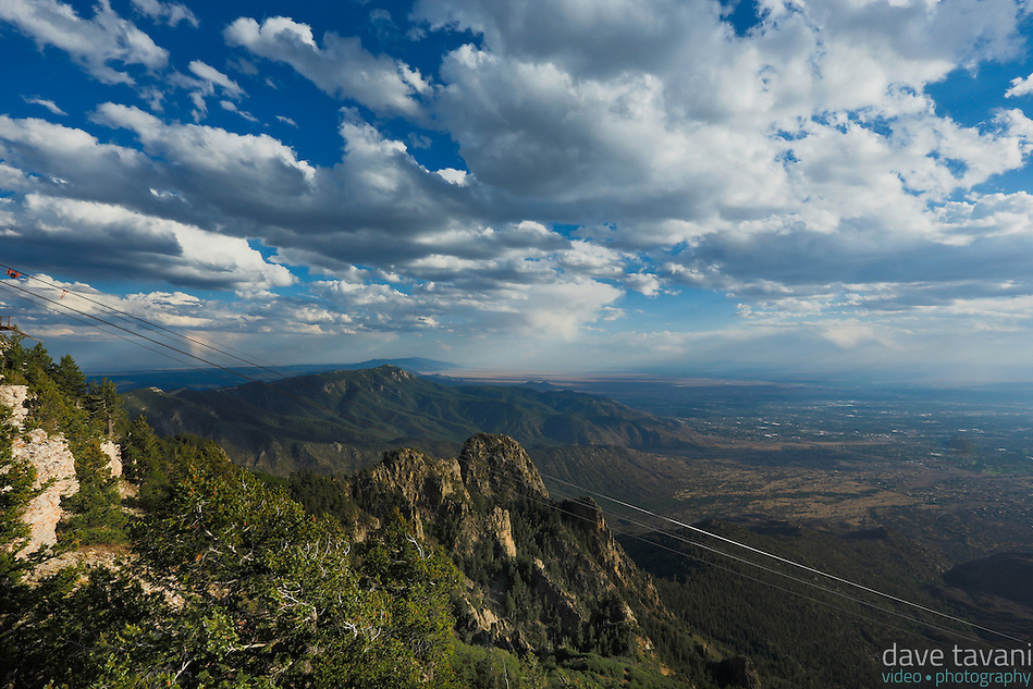 The Sandia Peak Tramway cables stretch a distance of 2.7 miles and elevate passengers four thousand vertical feet to the summit of Sandia Peak in about fifteen minutes. (Dave Tavani)
