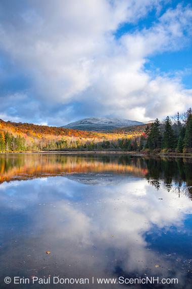 Sandwich Notch - Kiah Pond in Sandwich, New Hampshire during the autumn months.