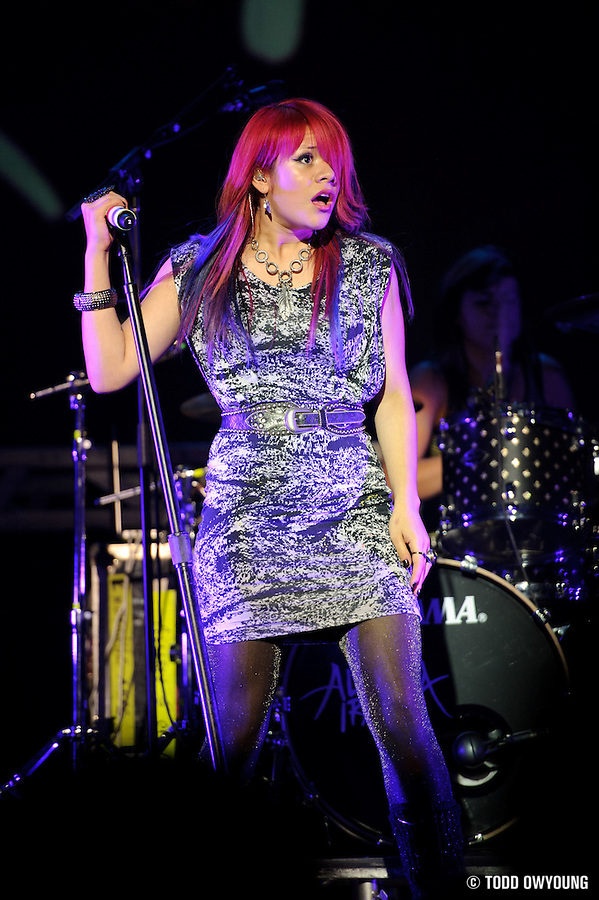 Photos of Allison Iraheta performing in support of Adam Lambert on August 8, 2010 at the Pageant in St. Louis. (TODD OWYOUNG)