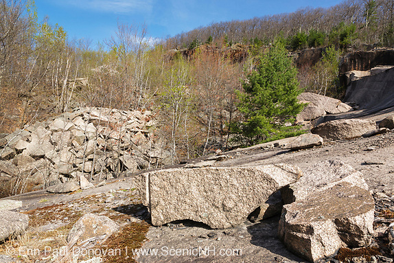 The Redstone Granite quarry in Redstone, New Hampshire.