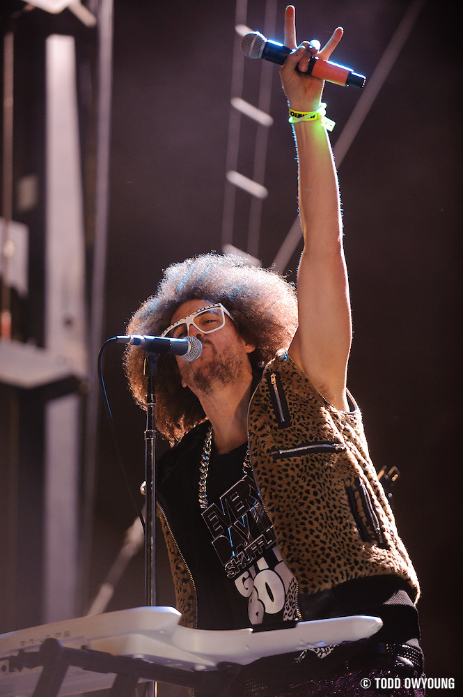 LMFAO performs at the Bamboozle Music Festival. Meadowlands Sports Complex, East Rutherford, NJ.  April 30, 2011. Copyright © 2011 Todd Owyoung. (Todd Owyoung)