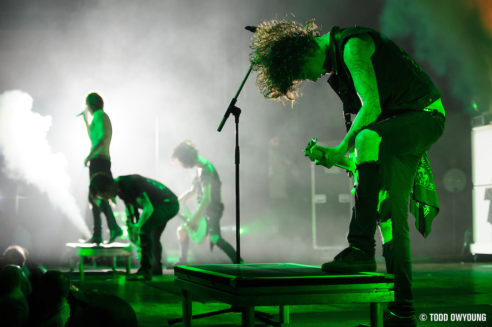 British heavy metal band Asking Alexandria performing on their 2012 world tour at the Pageant in St. Louis on November 11, 2012. (Todd Owyoung)