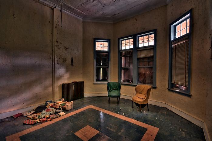 The Abandoned Hotel Adler in Sharon Springs NY New York. (Walter Arnold)