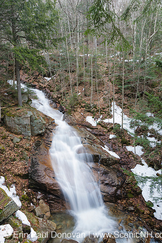 Franconia Notch State Park - Liberty Gorge Cascade during the spring months in Lincoln, New Hampshire USA. This waterfall is located in the Flume Gorge Scenic Area along Cascade Brook (ScenicNH Photography LLC | Erin Paul Donovan)