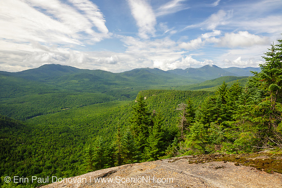 View from Attitash Trail on Table Mountain in Bartlett, New Hampshire.
