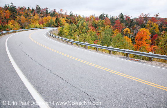 Kancamagus Pass during the autumn months along the Kancamagus Highway (route 112) which is one of New England's scenic byways. Located in the White Mountains, New Hampshire.