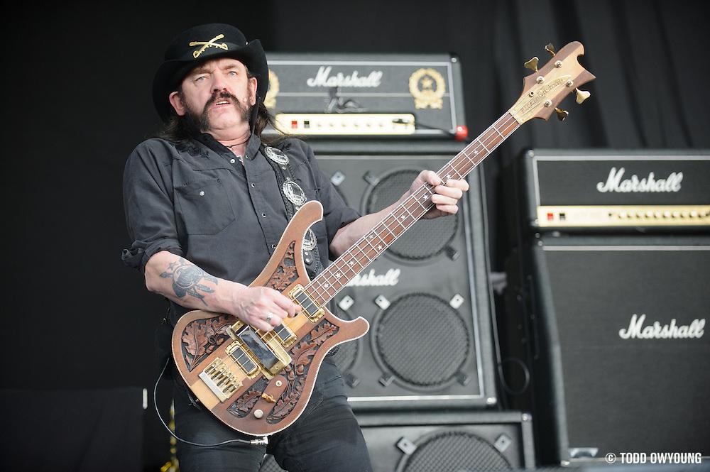 Motörhead, performing at Mayhem Fest 2012 at Verizon Wireless Amphitheater in St. Louis, Missouri on July 20, 2012. (Todd Owyoung)
