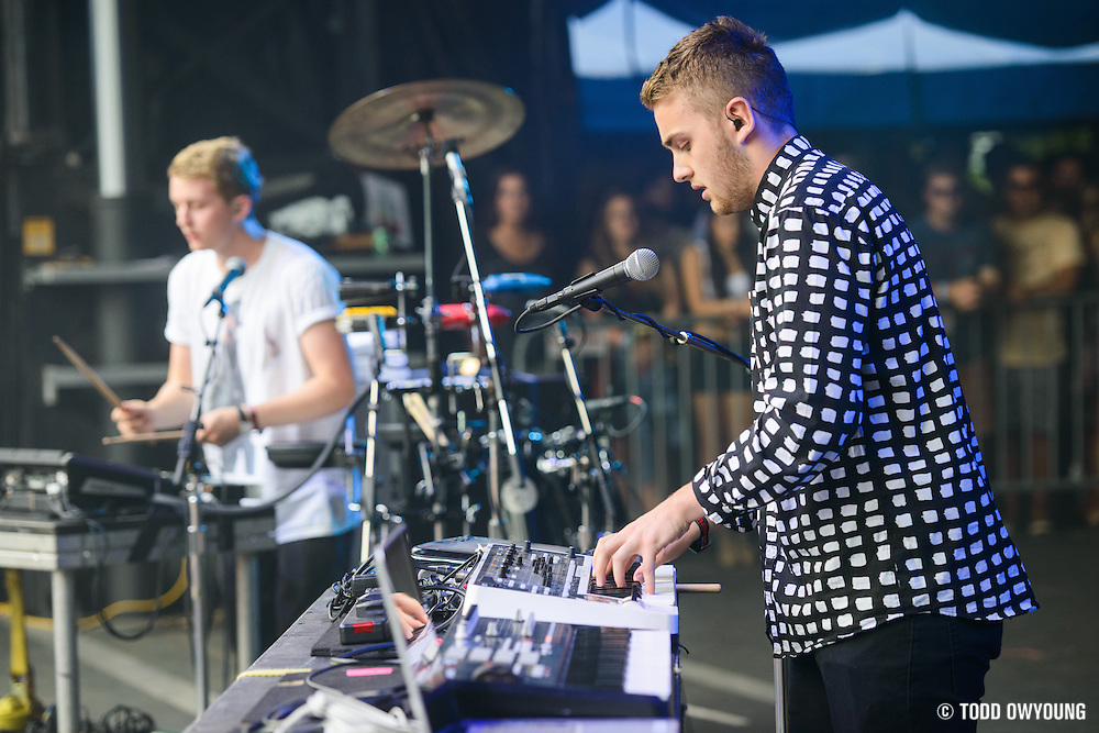 Disclosure photographed at Lollapalooza at Grant Park in Chicago on Friday, August 2, 2013. (Todd Owyoung)