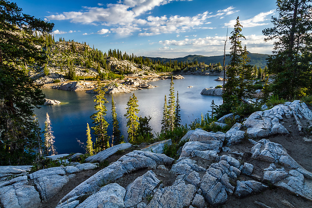 The view of Lake Mary in the Wasatch Mountains near Salt Lake City, Utah on a warm Summer morning is a sight to see and one many don't even know exists so close to a major urban area.  Big Cottonwood Canyon holds some surprises for you if you're willing to hike for them. (Clint Losee)