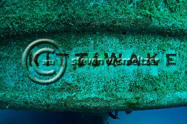 Aft Logo, USS Kittiwak (StevenWSmeltzer.com)