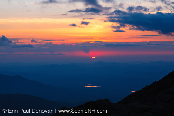 Happy Earth Day! Sunset along the Appalachian Trail (Gulfside Trail) near Mount Clay in the White Mountains, New Hampshire USA during the summer months.
