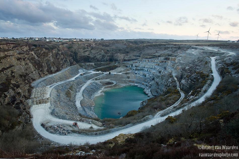 The slate quarry in Delabole, UK. (Robert van Waarden)