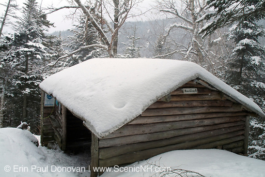 Resolution Shelter - Located off Davis Path in the Dry River Wilderness. This is a  Adirondack-style shelter located in the White Mountains, New Hampshire USA.