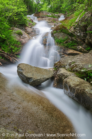 Franconia Notch State Park - Swiftwater Falls during the spring months. This waterfall is located on Dry Brook in Lincoln, New Hampshire.