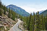 Cyclists ride up Independence Pass near Aspen, Colorado. (Seth K Hughes)