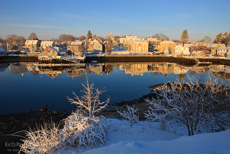 The South End of Portsmouth, New Hampshire as seen from Pierce Island in winter. (Jerry and Marcy Monkman)