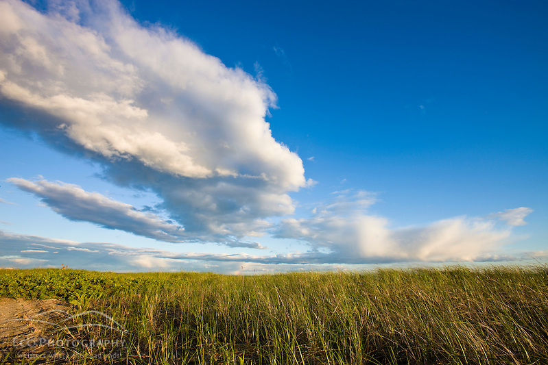 Clouds above Long Beach in Stratford, Connecticut.  Adjacent to the Great Meadows Unit of McKinney National Wildlife Refuge. (Jerry and Marcy Monkman/EcoPhoto)