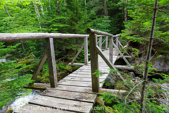 August, the Sanders Bridge along the Randolph Path in Low and Burbank's Grant, New Hampshire during the summer months.