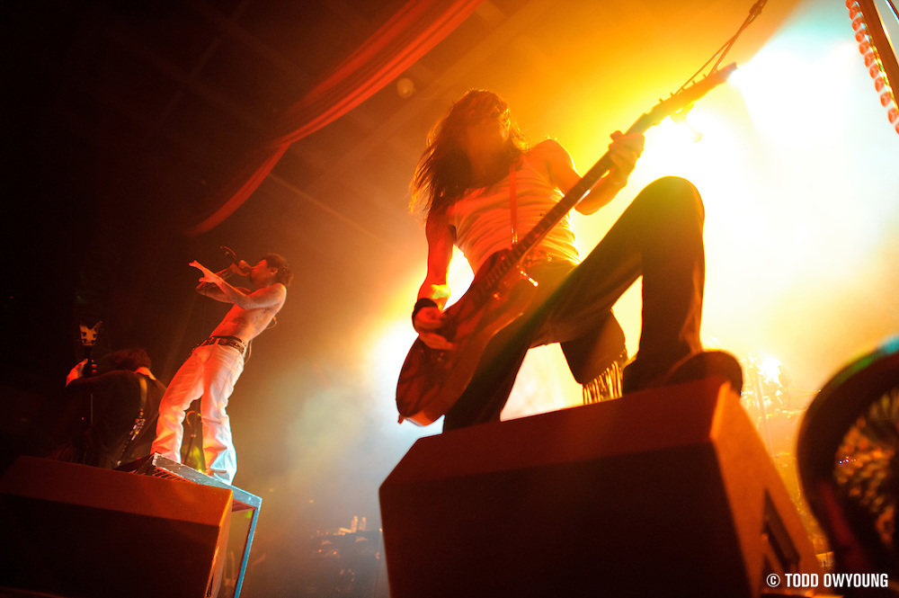 Photos of the Japanese band Dir en grey on tour with Apocalyptica, performing at the Pageant in St. Louis on August 31, 2010. (TODD OWYOUNG)